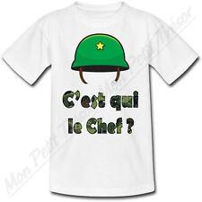 T-shirt Enfant C'est qui le chef ?
