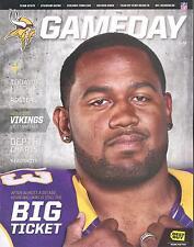 Minnesota Vikings Tennessee Titans 10/7/12 Game Program...Kevin Williams