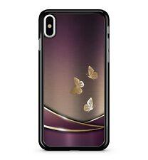Golden Yellow Butterflies Purple Mixed Light Aluminium 2D Phone Case Cover