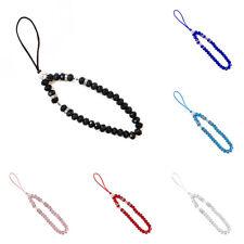 Cellphone Lanyard Glass Beads Mobile Phone Strap Hand Wrist String Lightweight