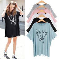 Women Floral Printed T-shirt Blouse Top Bating Short Sleeve Casual Loose Summer