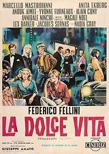 La dolce vita 1960 Retro Movie Poster A0-A1-A2-A3-A4-A5-A6-MAXI 260
