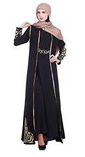 Womens Islamic Clothing Muslim Arab Kaftan Ethnic Robe Full Cover Dress Coat
