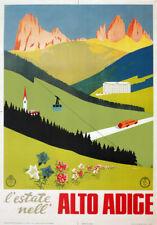 TV21 Vintage 1940's Italian Italy Alto Adige Tyrol Travel Poster A2 A3