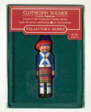 1985 Clothespin Soldier Scottish Highlander Hallmark