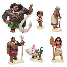 Disney Moana Vaiana Pua Hei Hei Figures Plastic Toys Cake Toppers Topper
