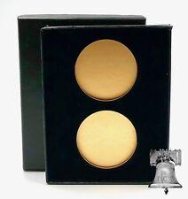 Air-tite Coin Holder Black Velvet Box Display Gold Insert Model H Storage Case