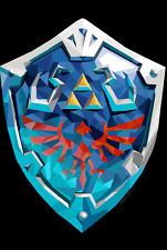 Zelda Hylian Shield gioco poster stampa T642