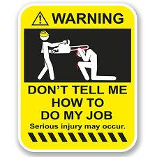 2 X 10 Cm Funny advertencia pegatina de vinilo Ipad Laptop Auto Drift Dub Vw trabajo Broma # 4955