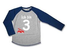 LA Geburtstagsshirt * Ich bin 2, 3, 4, 5, 6 * Feuerwehr Wahl: Zahl, WUNSCHNAME