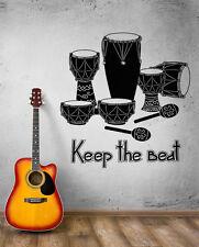Wall Decal Music Art Drum Rhythm Africa Сoncert Mural Vinyl Stickers (ed007)