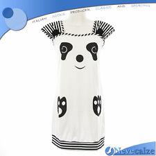 Camicia da notte donna estate smanicata  in cotone musetto kawaii  DECAM024