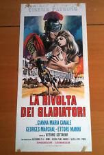 LA RIVOLTA DEI GLADIATORI locandina poster Peplum CANALE COTTAFAVI 1958 AJ13