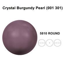 CRYSTAL BURGUNDY PEARL (001 301) Genuine Swarovski 5810 Round *All Sizes