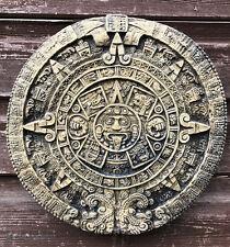 Aztec Mayan Calendar round stone wall plaque Sun stone home or garden ornament
