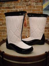 Sporto Ellen White Quilted Waterproof Zip Front Boots New