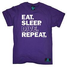 Eat Sleep Buceo repetir Camiseta De Equipo De Buceo Engranaje Divertido Regalo De Cumpleaños