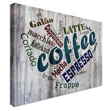Caffè Shabby Chic Effetto Tela Stampa Artigianale a Londra-qualità assicurata