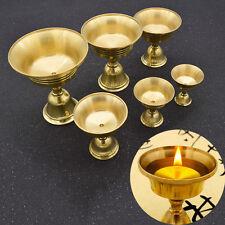 Teelichthalter Kerzenhalter Kerzenständer Vintage Messing Öllampe Halterung Deko