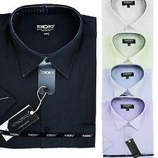 Herren Hemd Hemden Shirt Oberhemd Hochzeit Hemd Kurzarm New  (4)