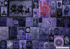 Purple Wall Hanging Indian Mandala Tapestry Throw Bohemian Dorm Decor Art Poster