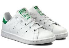 quality design 922d7 4e5a0 Adidas Stan Smith C Zapatos bebé niño niña Sports Sneakers cordones de  cuero blanco