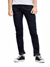 JACK & JONES Jeans Mens Stan Anti Fit Regular Leg Denim Pants Indigo Dark Blue