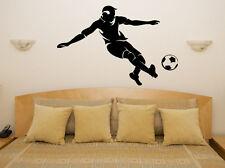 Futbolista Pelota De Fútbol Para Niños Dormitorio Sala calcomanía Pared Arte Adhesivo De Imagen