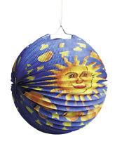 Laterne Papier Mond Sterne Sonne Gesicht Lampion rund Zuglaterne Hängedekoration