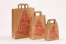 250 Papiertragetaschen Weihnachten Merry Christmas Papiertüten Tüten Tannenbaum