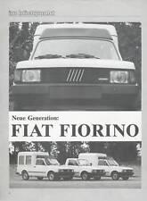 FIAT FIORINO PROSPEKT 11/84 brochure 1984 auto prospetto auto automobili opuscolo ITALY