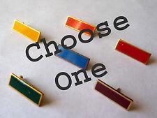 Girl Scout 1980-2011 SENIOR SERVICE BAR PIN Red Orange Blue Green Yellow CHOOSE
