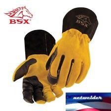 BSX Premium 3 Kidskin Finger Cowhide Back TIG Welding Gloves - BT88