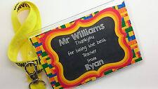 Teacher Personalised Bespoke Gift Tag Lanyard Thankyou Thank You