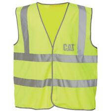 Caterpillar Mens Hi Vis Work Safety Vest Waistcoat Yellow