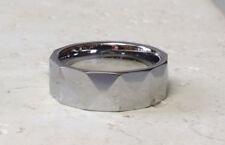 Prism Cut Design Tungsten Carbide Wedding Ring Size 9,10,11,12,13 (f71)