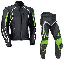 Kawasaki Moto Giacca in pelle tuta sportiva dei pantaloni tutto il formato IT