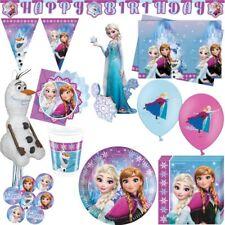 La Reine des Neiges Anniversaire D'Enfant Anna Elsa Olaf Fête D'Anniversaire Kit
