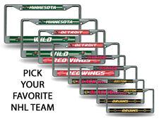 NHL Bling (PICK YOUR TEAM) Chrome License Plate Frame SET of 2 ~