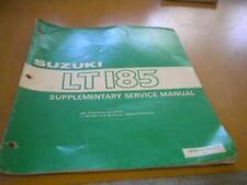 1986 Suzuki LT185 G LT185G Supplementary Service Manual 99501-41080-01E