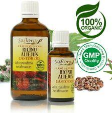 Castor Oil | 100% Pure Organic Virgin | Pharm. Grade