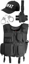 SWAT Kostüm bestehend aus Weste, Pistolenholster, Cap und Handschellen