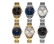 Mens Wrist Watches Bracelet Analog Quartz Fashion Stainless Steel in 4 Colour
