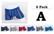 6 pack Mens Boxer Briefs Cotton Underwear Stretch Trunk Short Bulge Lot XS S M L