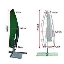 Sonnenschirm Schutzhülle Schutzhaube Ampelschirm Gartenschirm Abdeckung FC06