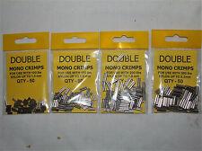 Double Mono Crimps 4 Size Available - Sea or Coarse Fishing