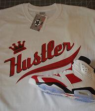 T shirt  MADE TO MATCH  jordan 6 or OG Carmine Red TRUE COLOR Hustler NWT BTN