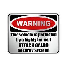 Auto Aufkleber Sticker Warning - GALGO ESPANOL Hunde Einbruch SIVIWONDER