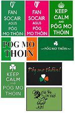 IRISH KEEP CALM AND/OR POG MO THOIN JUMBO FRIDGE MAGNETS ACYRLIC OR FLAT THIN