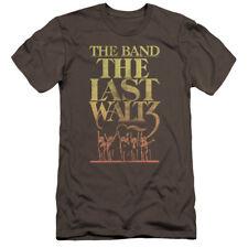 The Band/The Last Waltz Mens Premium Slim Fit Shirt (Charcoal, XX-Large)